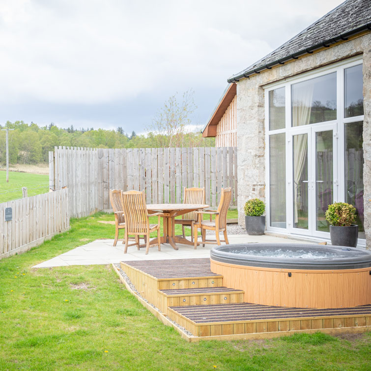The hot tub has arrived at The Dulnain